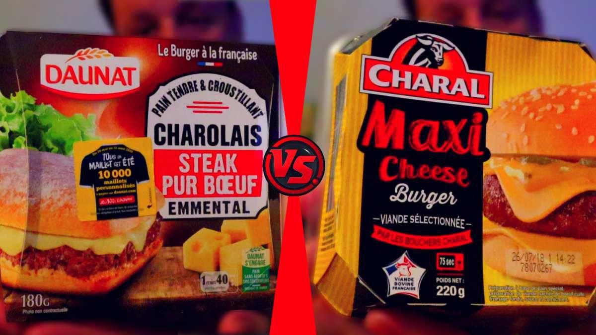 DÉGUSTATION BURGER CHAROLAIS DAUNAT VS MAXI CHEESE CHARAL !