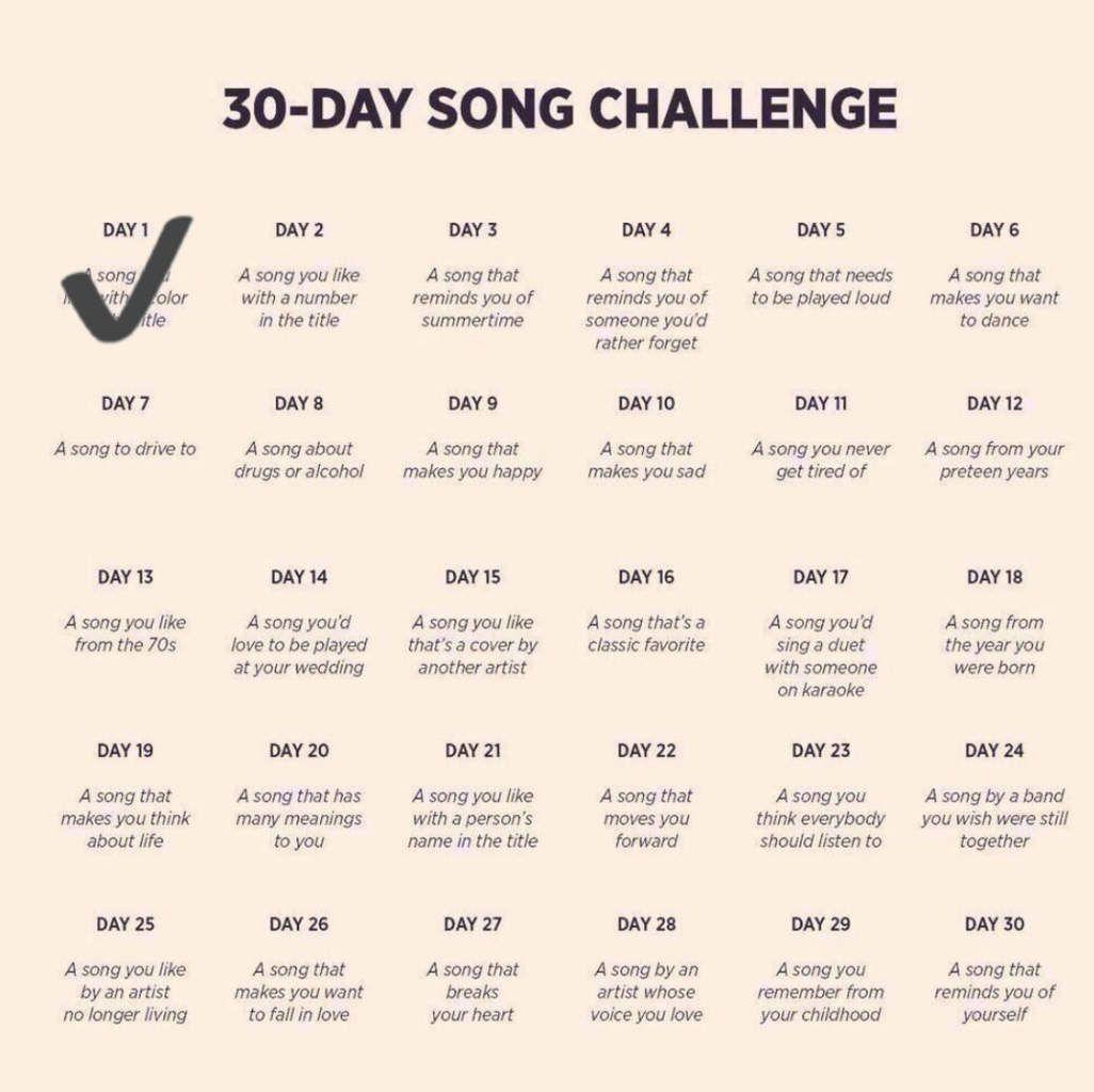 DEFI 30 jours de chansons internationales - Jour 2
