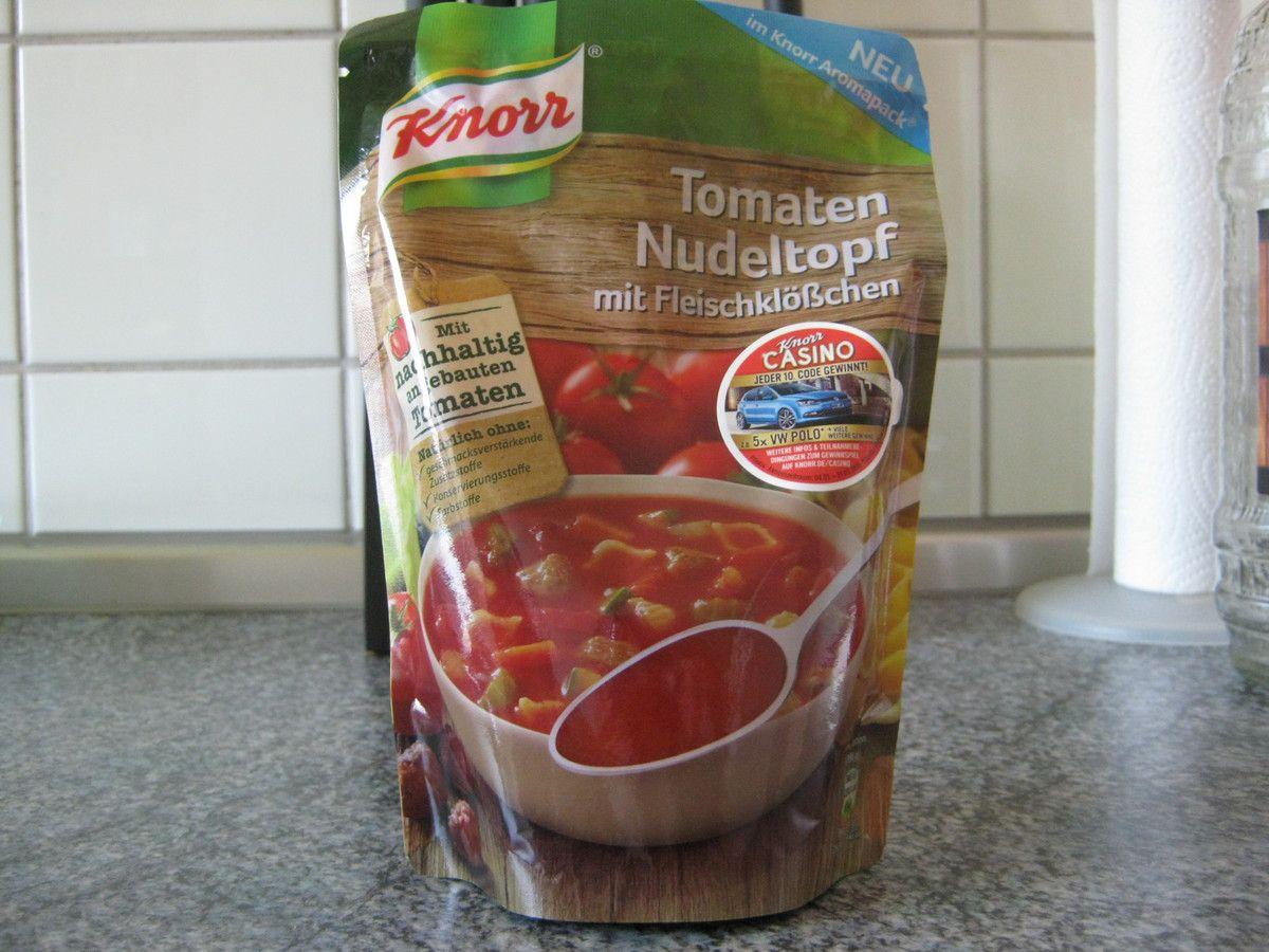 Knorr Aromapack Tomaten Nudeltopf mit Fleischklößchen