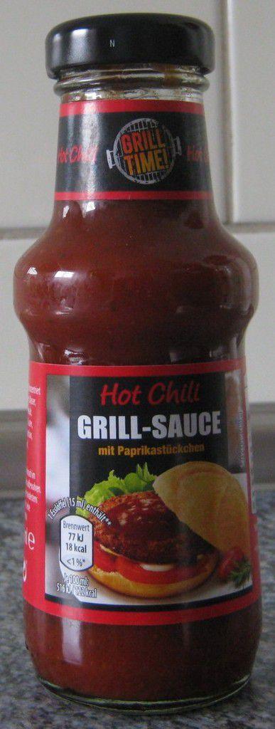 [Aldi Nord] Grill Time Hot Chili Grill-Sauce mit Paprikastückchen von Voss Feinkost (Homann Feinkost)