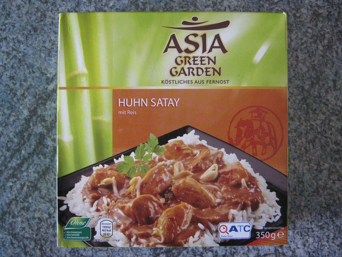 [Aldi Nord] Asia Green Garden Huhn Satay (Huhn in einer würzigen Erdnusssauce mit Reis)