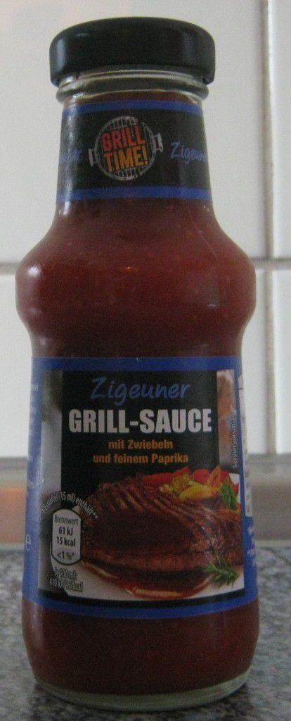 [Aldi Nord] Grill Time Zigeuner Grill-Sauce mit Zwiebeln und feinem Paprika von Voss Feinkost (Homann Feinkost)