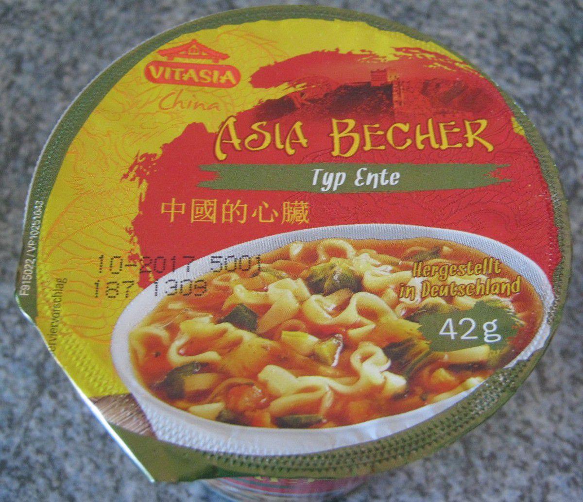 [Lidl] Vitasia Asia Becher Typ Ente (China) von Zamek Lebensmittelwerke