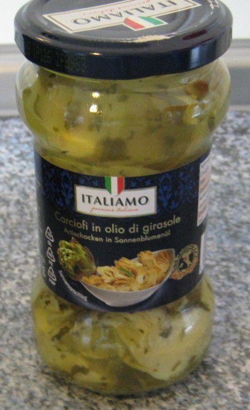 [Lidl] Italiamo Carciofi in olio di girasole - Artischocken in Sonnenblumenöl mit Kräutern von F.lli Polli Spa