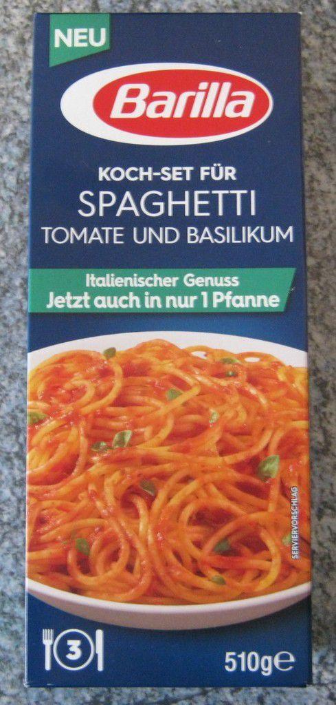 Barilla Koch-Set für Spaghetti Tomate und Basilikum