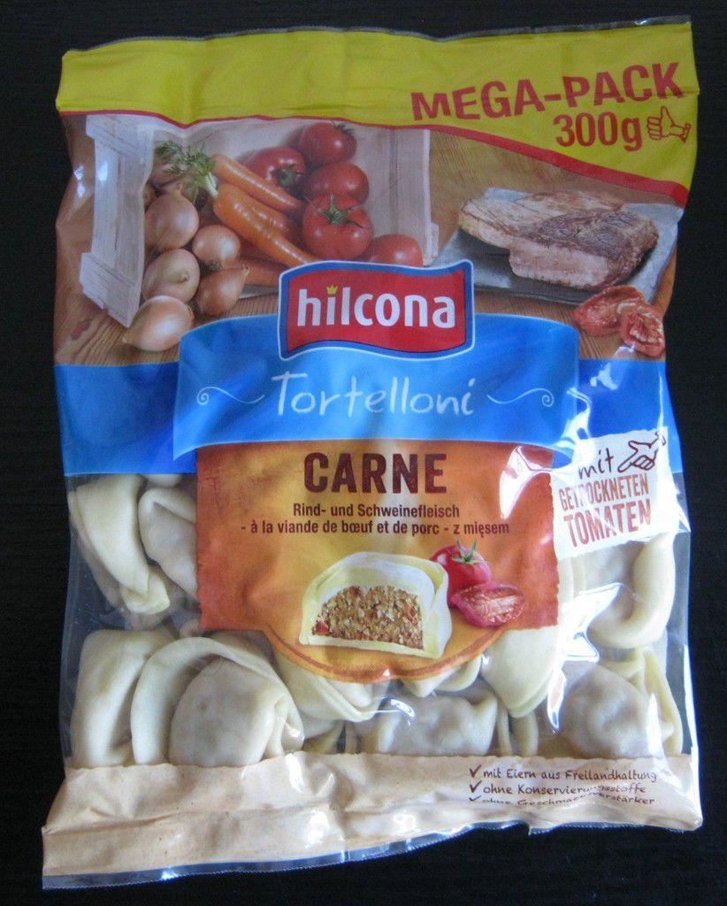 Hilcona Tortelloni Carne mit Rind- und Schweinefleisch sowie mit getrockneten Tomaten