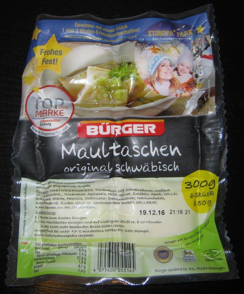 Bürger Maultaschen original schwäbisch