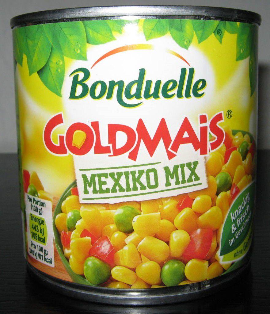 Bonduelle Goldmais Mexiko Mix (Mais, Erbsen und Paprika)