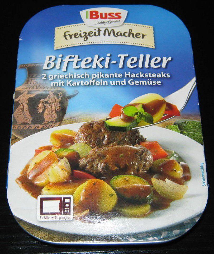 Buss Freizeit Macher Bifteki-Teller (2 Hacksteaks mit Kartoffeln und Gemüse)