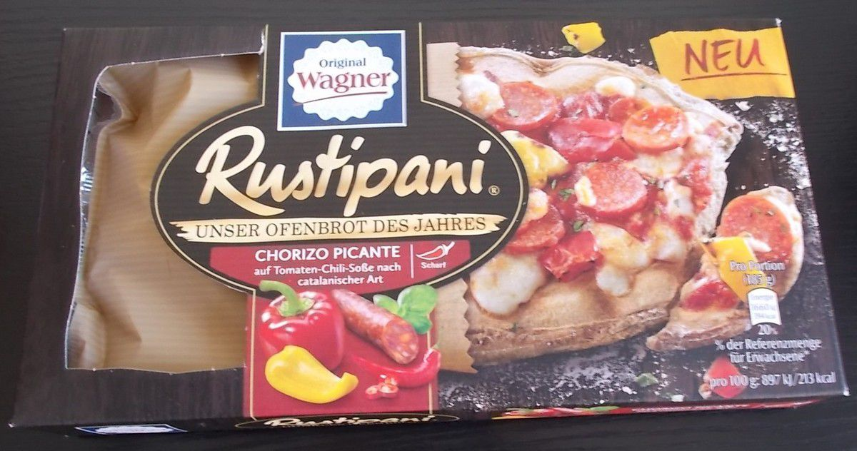 Wagner Rustipani Chorizo Picante (mit Tomaten-Chili-Soße) scharf