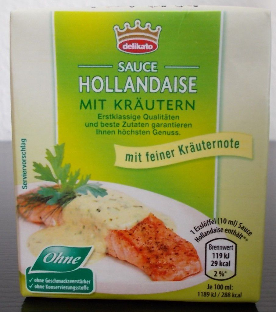 aldi nord delikato sauce hollandaise mit kr utern produkttester von fertiggerichten und co. Black Bedroom Furniture Sets. Home Design Ideas