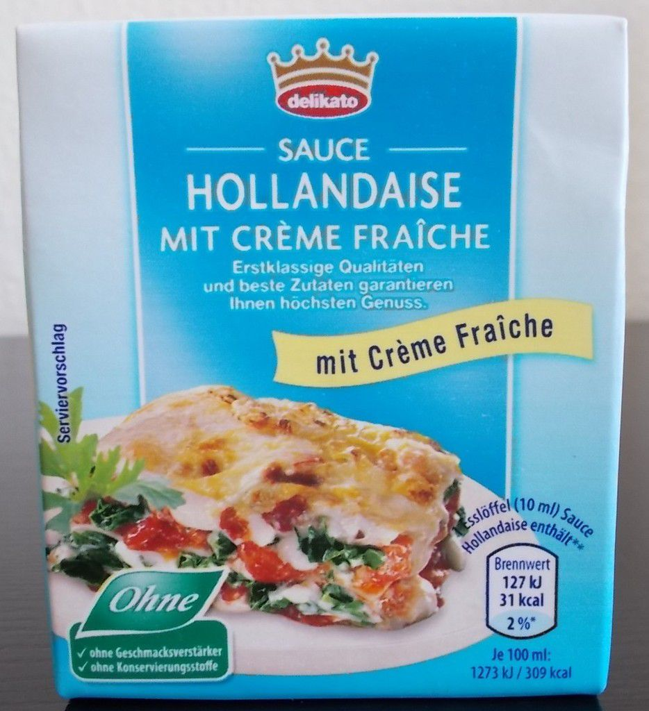aldi nord delikato sauce hollandaise mit creme fraiche von j tro produkttester von. Black Bedroom Furniture Sets. Home Design Ideas