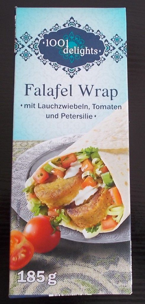 lidl 1001 delights falafel wrap mit lauchzwiebeln tomaten und petersilie produkttester von. Black Bedroom Furniture Sets. Home Design Ideas