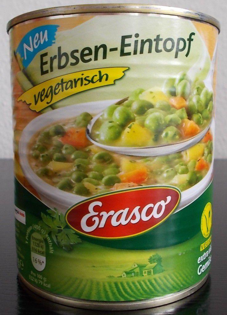 Erasco Erbsen-Eintopf vegetarisch mit extra viel Gemüse