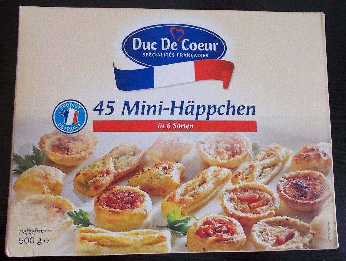 [Lidl] Duc De Coeur 45 Mini-Häppchen in 6 Sorten von LTS