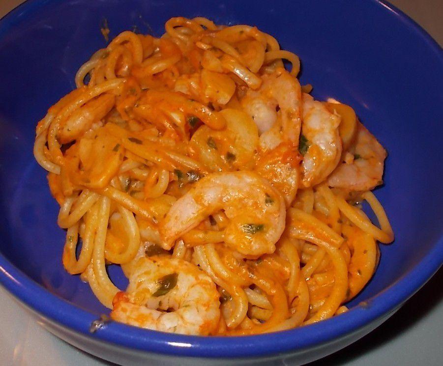 Gosch Sylt Jünnes Original Knoblauch-Spaghetti mit Shrimps