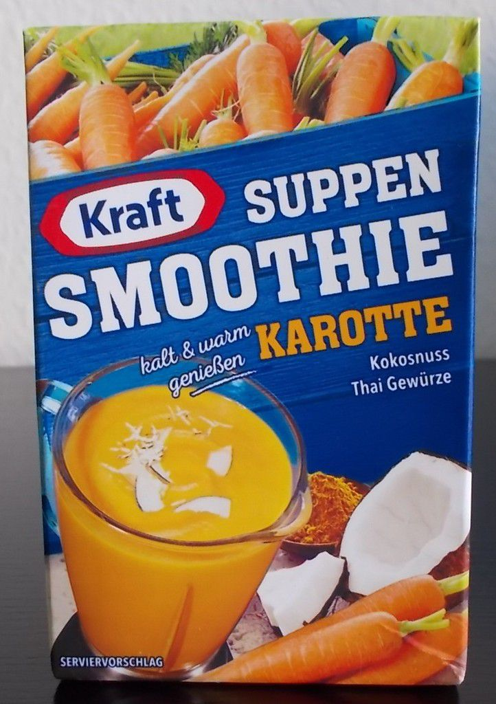 Kraft Suppen Smoothie Karotte Kokosnuss Thai Gewürze