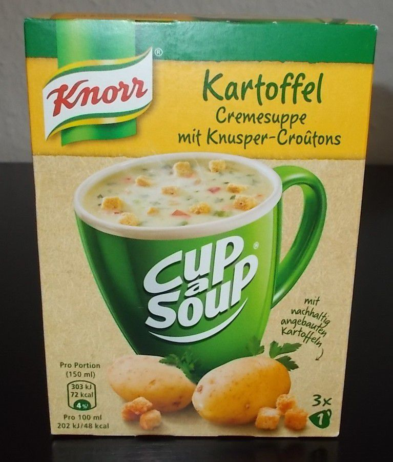 Knorr Coup a Soup Kartoffel Cremesuppe mit Croutons