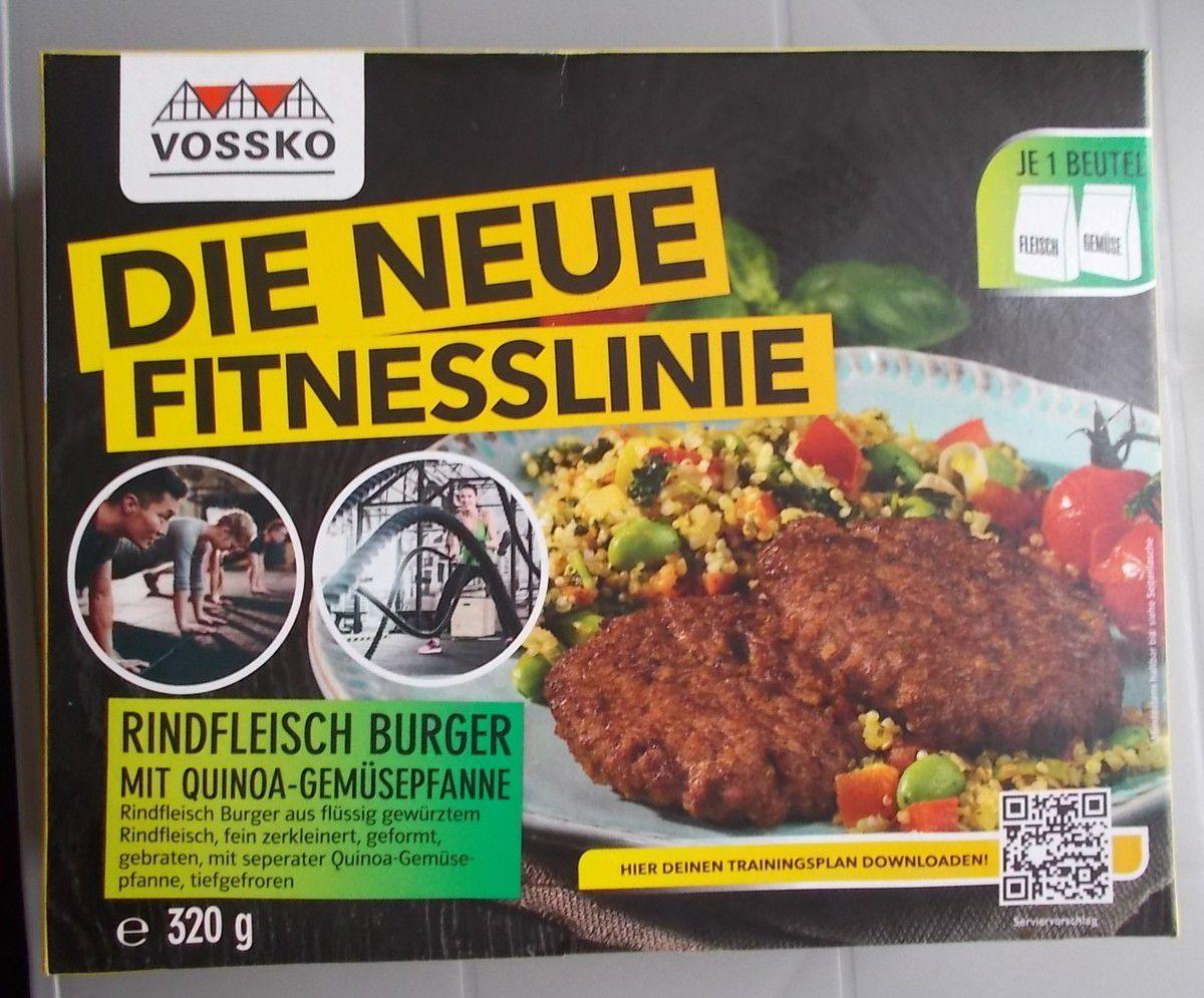 Vossko Die neue Fitnesslinie Rindfleisch Burger mit Quinoa-Gemüse