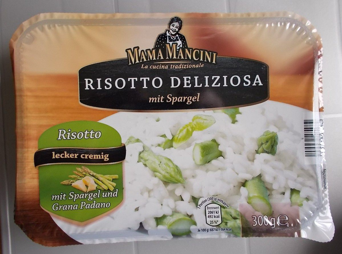 aldi nord mama mancini risotto deliziosa mit spargel produkttester von fertiggerichten und co. Black Bedroom Furniture Sets. Home Design Ideas