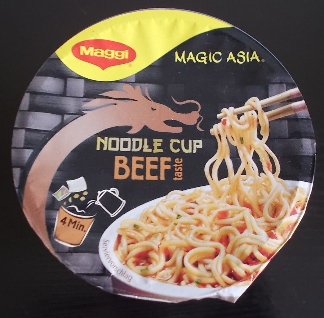 Maggi Magic Asia Noodle Cup Beef taste