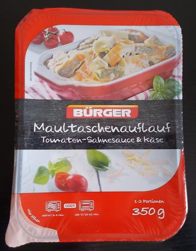 Bürger Maultaschenauflauf Tomaten-Sahnesauce & Käse
