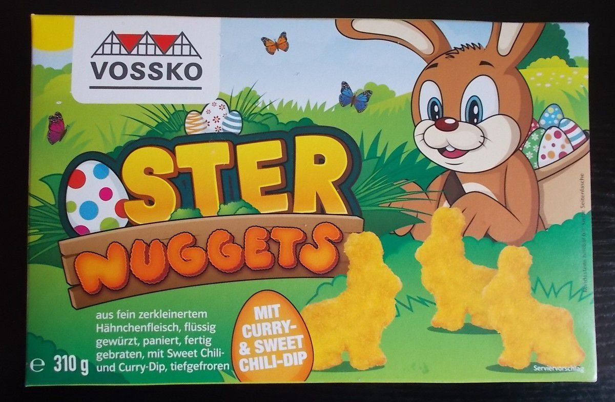 Vossko Oster Nuggets mit Curry- & Sweet Chili-Dip