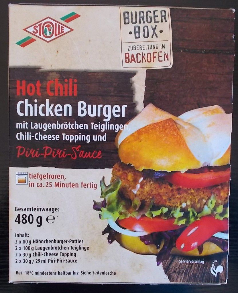 Stolle Burger Box Hot Chili Chicken Burger