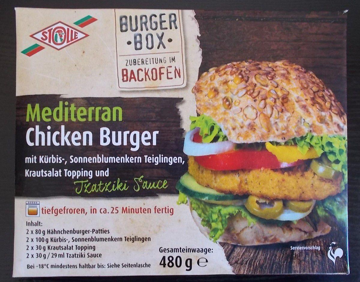 Stolle Burger Box Mediterran Chicken Burger