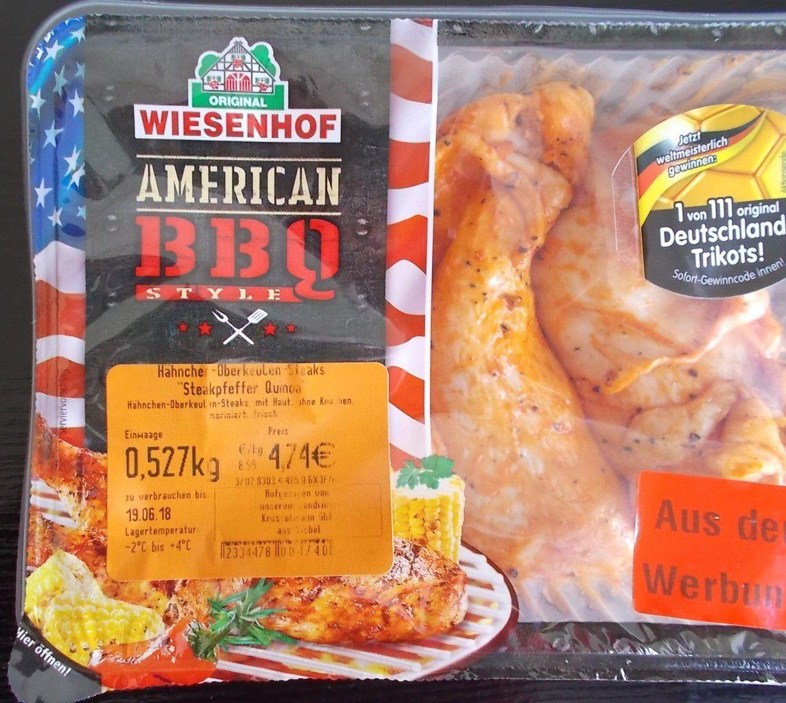 Wiesenhof American BBQ Hähnchen-Oberkeulen-Steaks