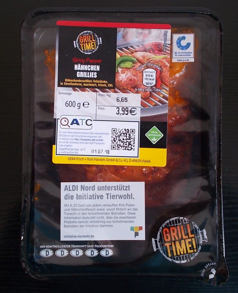 [Aldi Nord] Grill Time Hähnchen Grillies Spicy Pepper