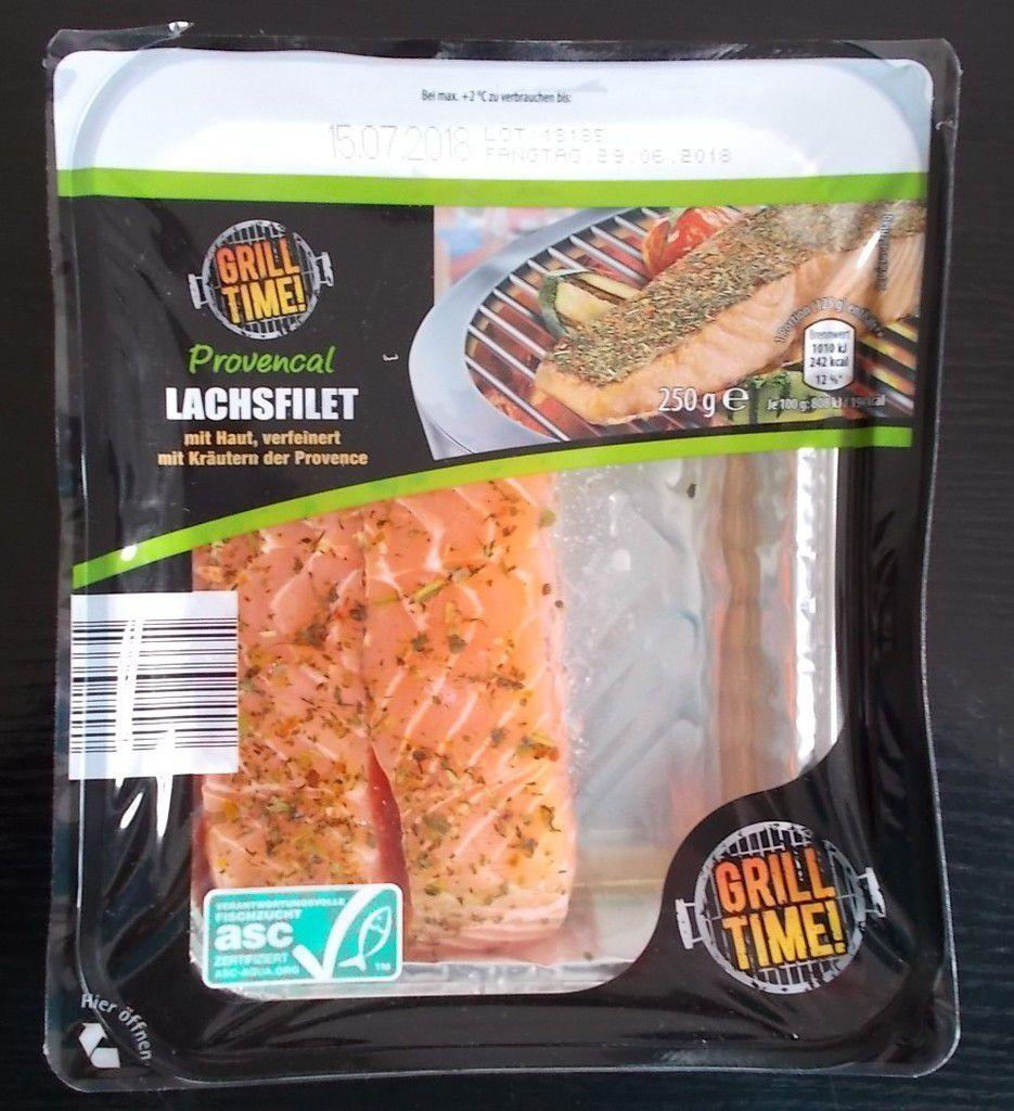 [Aldi Nord] Grill Time Provencal Lachsfilet mit Haut