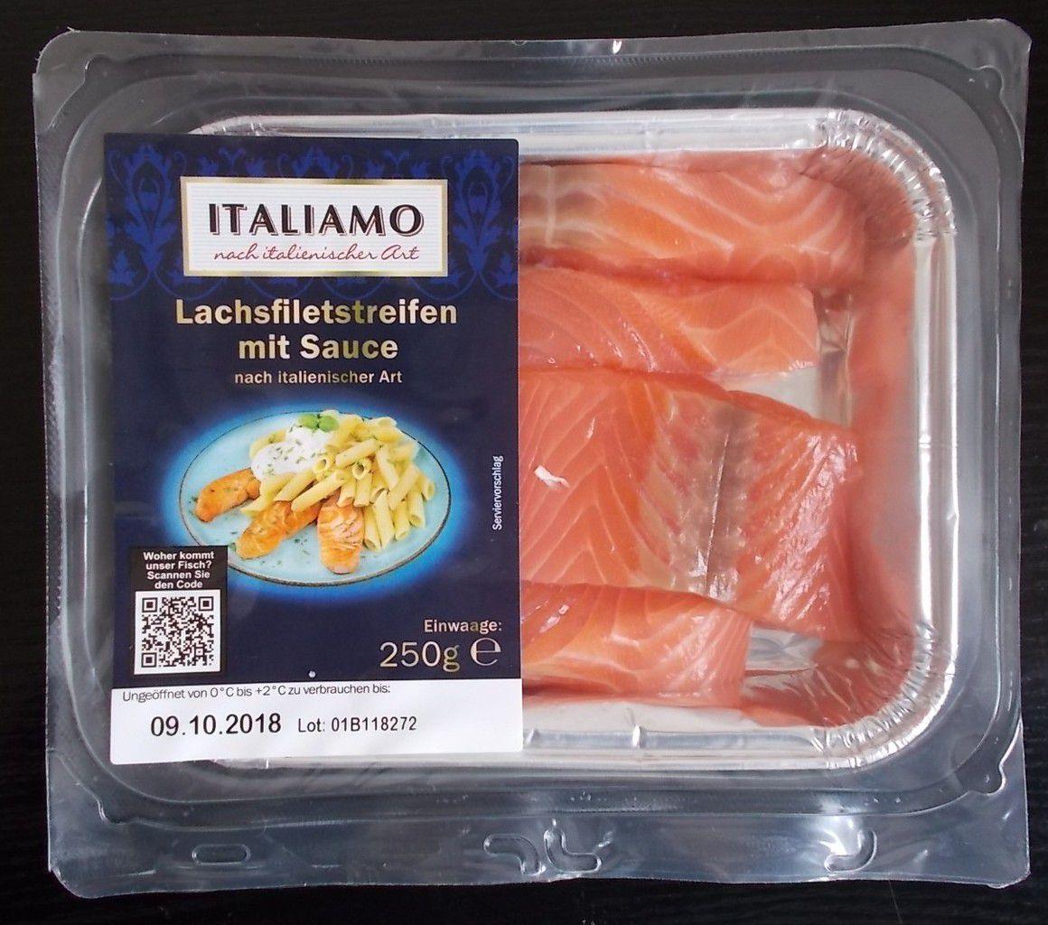 [Lidl] Italiamo Lachsfiletstreifen mit Sauce