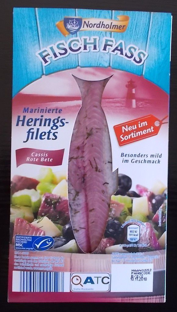 [Aldi Nord] Marinierte Heringsfilets Cassis Rote Bete