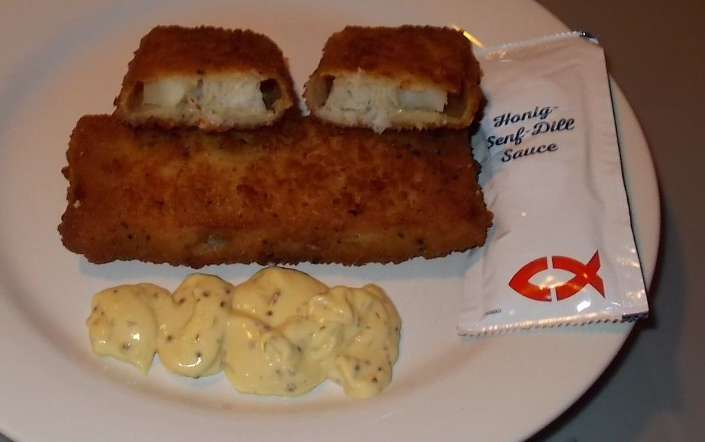 NORDSEE Pikanter Backfisch mit Honig-Senf-Dill Sauce