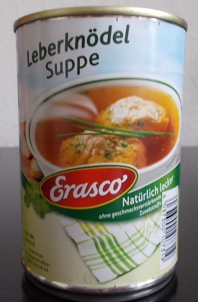 Erasco Leberknödel Suppe