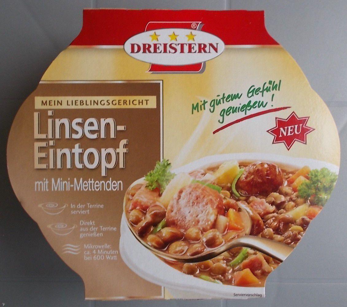 DreiStern Linsen-Eintopf mit Mini-Mettenden
