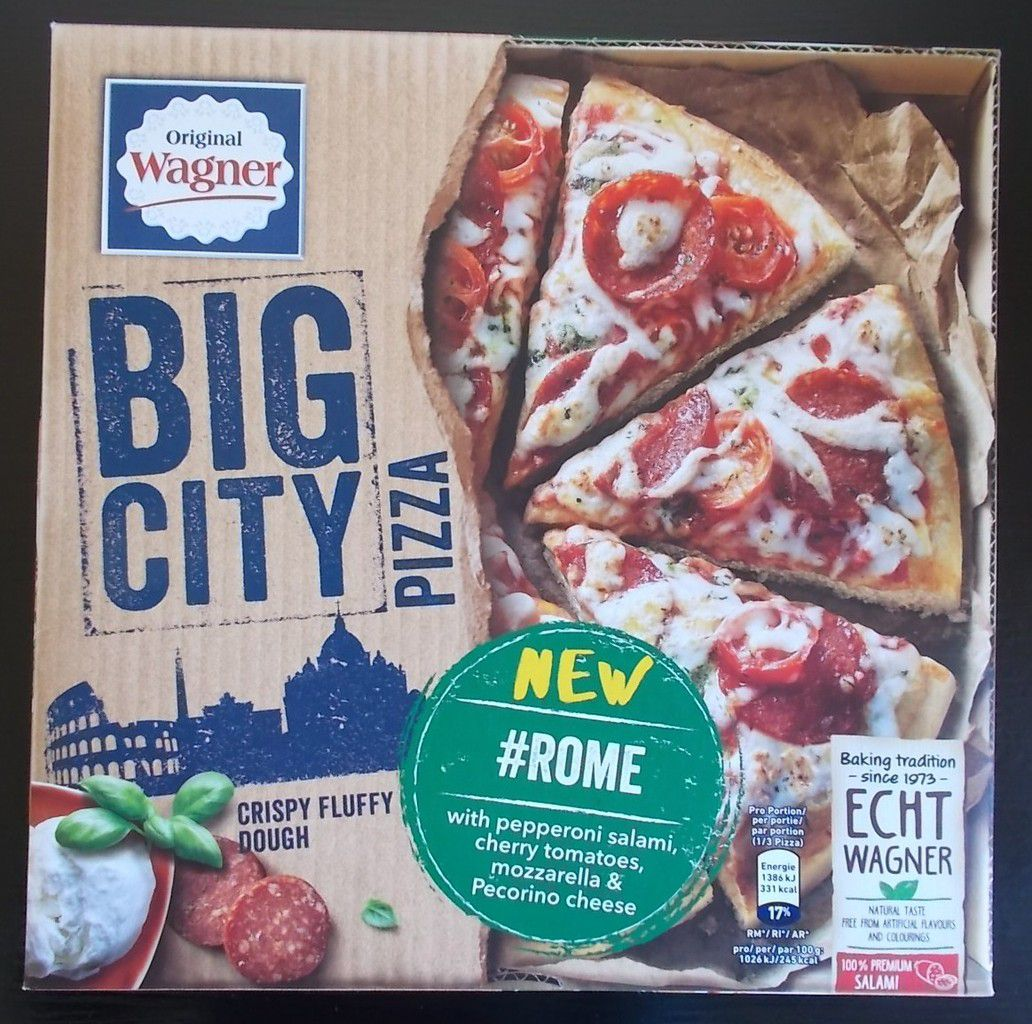 Wagner Big City Pizza Rome with pepperoni salami