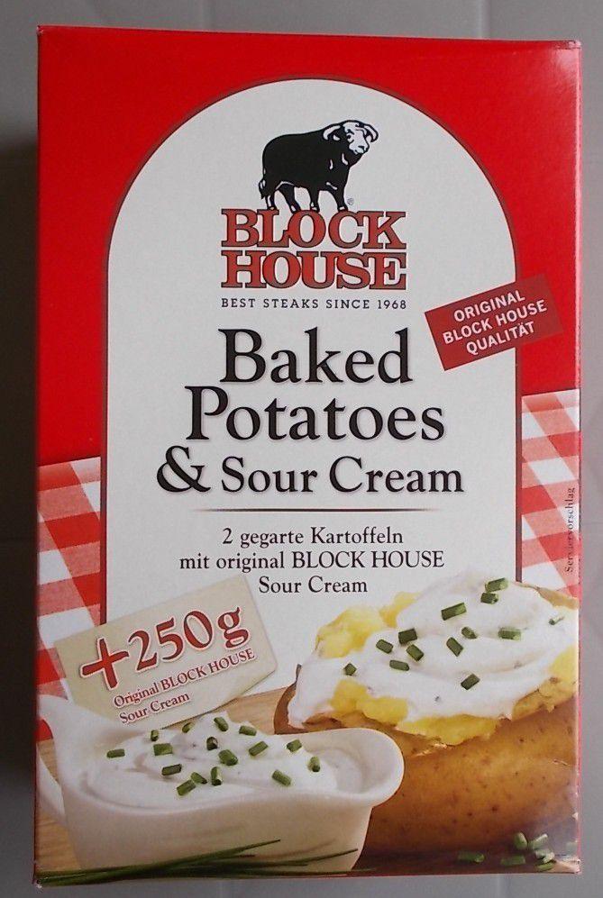 Block House Baked Potatoes & Sour Cream