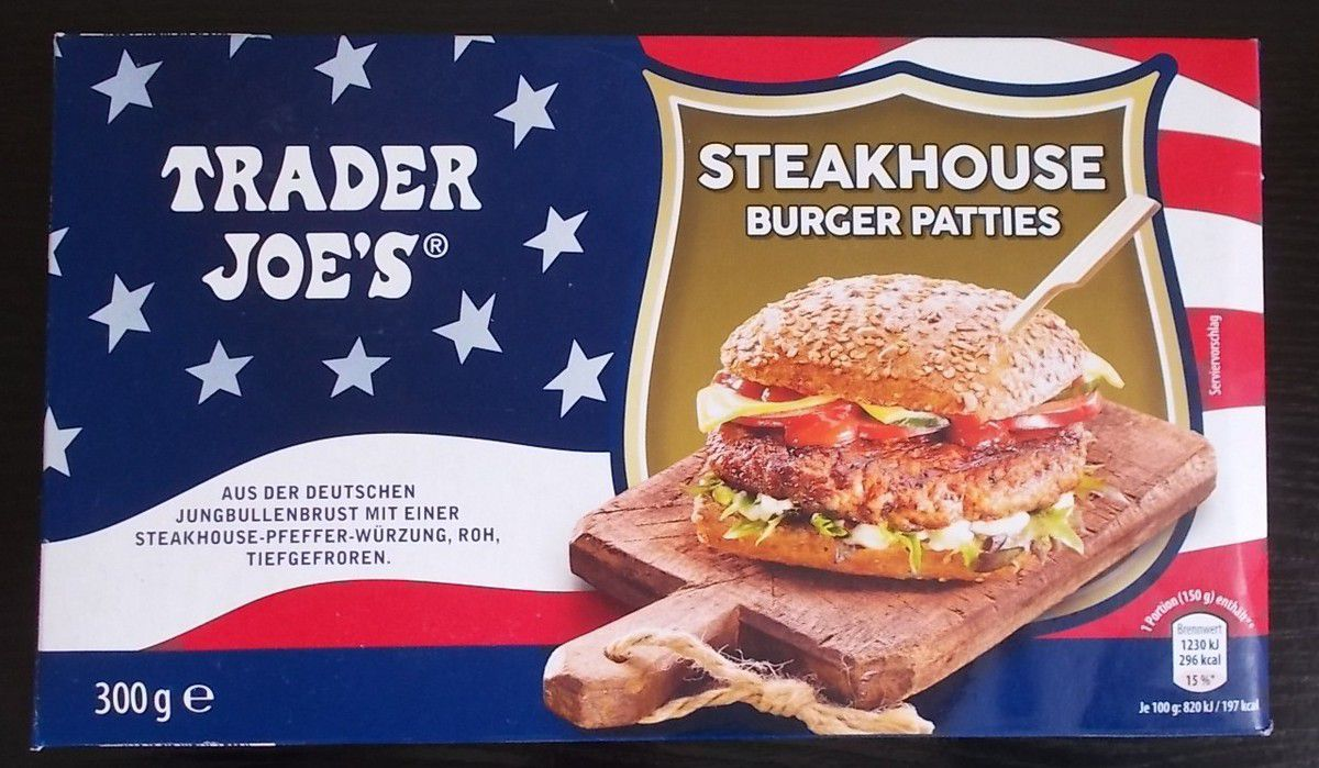 [Aldi] Trader Joe's Steakhouse Burger Patties
