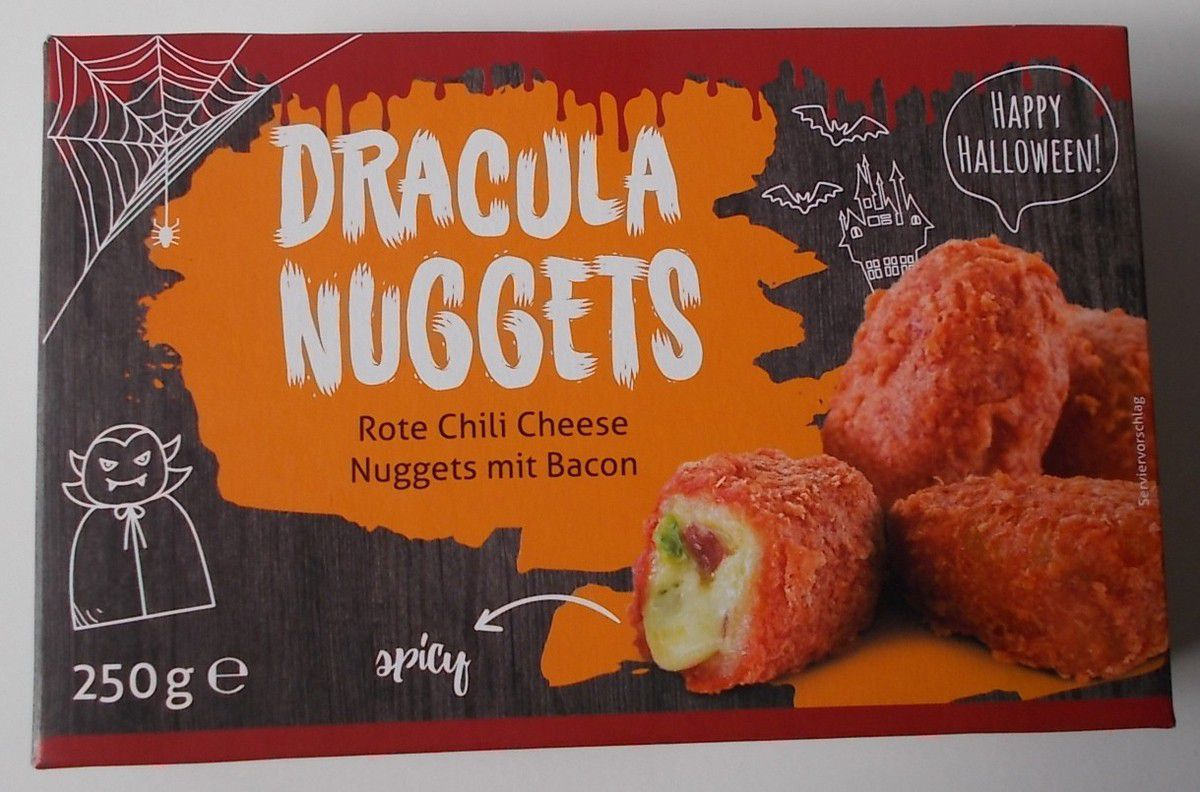 Dracula Nuggets Rote Chili Cheese Nuggets mit Bacon
