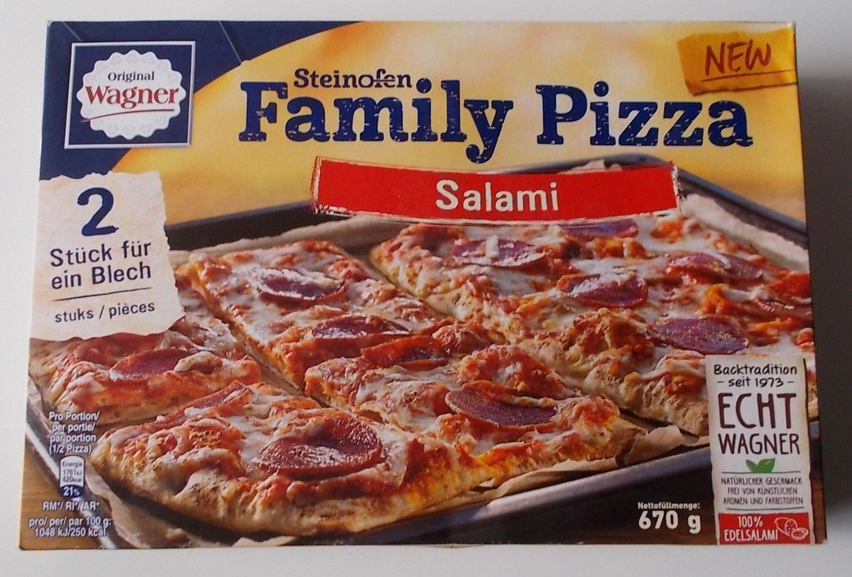 Wagner Steinofen Family Pizza Salami