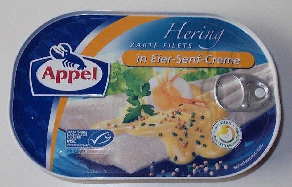 Appel Zarte Filets Hering in Eier-Senf-Creme