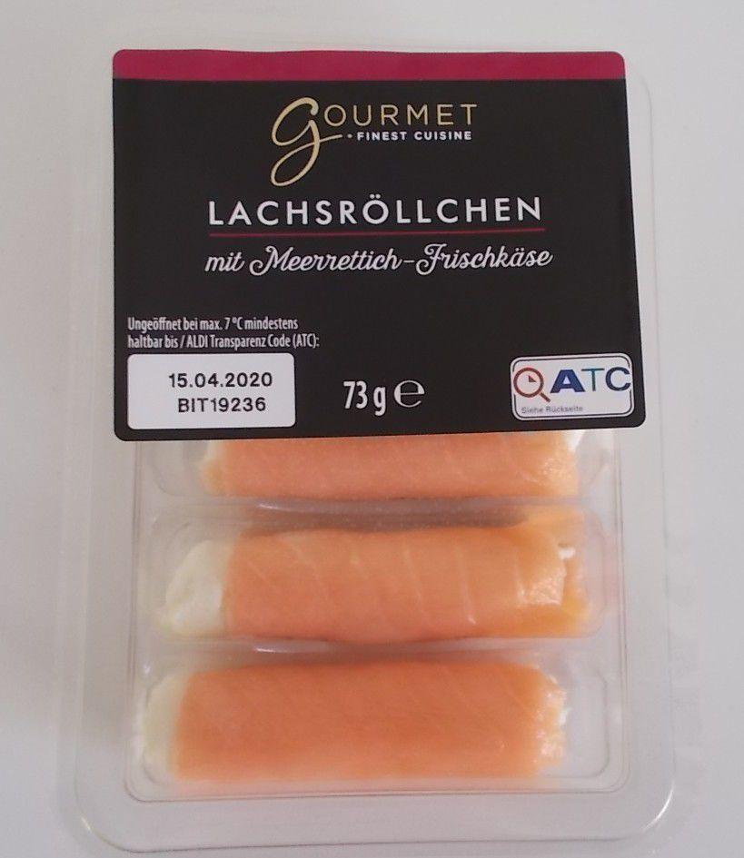 [Aldi] Gourmet Lachsröllchen mit Meerrettich-Frischkäse