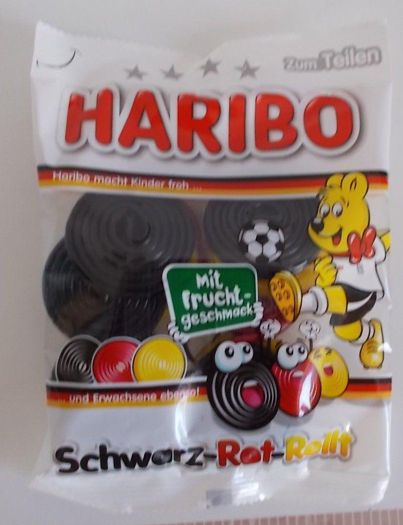 Haribo Schwarz-Rot-Rollt mit Fruchtgeschmack