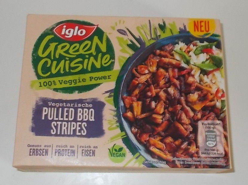 iglo Green Cuisine Pulled BBQ Stripes