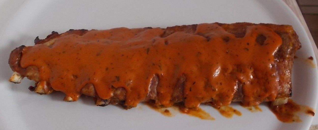 Metaxa Spare Ribs in Metaxa-Sauce slow cooked