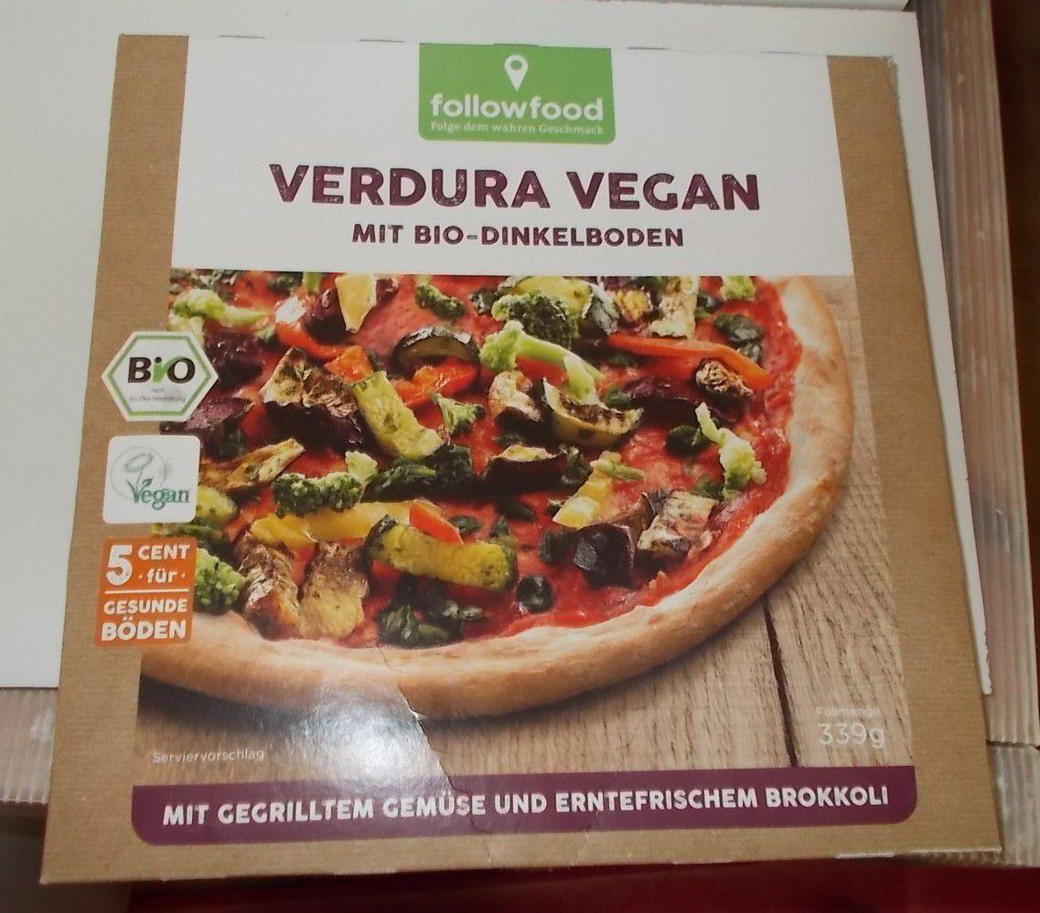 followfood Verdura Vegan mit Bio-Dinkelboden Pizza