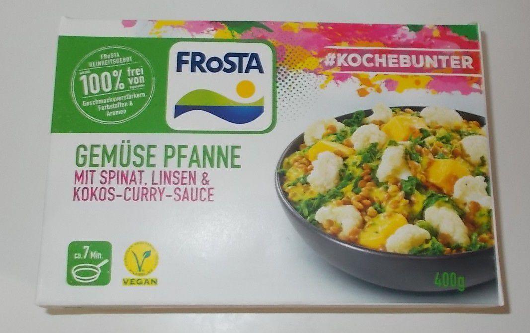 FRoSTA Gemüse Pfanne mit Spinat, Linsen & Kokos-Curry-Sauce
