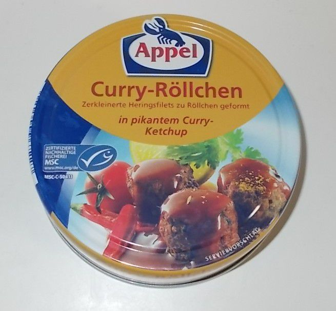 Appel Curry-Röllchen in pikantem Curry-Ketchup